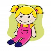 picture of rag-doll  - vector illustration of a child - JPG