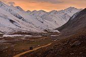 stock photo of pass-time  - evening time at Babusar Pass before winter season,Khagan Valley,Pakistan ** Note: Visible grain at 100%, best at smaller sizes - JPG
