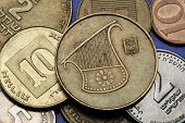 stock photo of shekel  - Coins of Israel - JPG