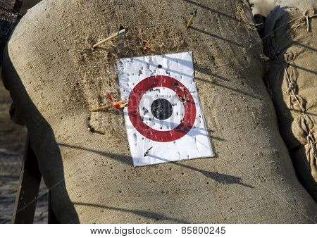 Circle Archery Target For Arrows As A Background