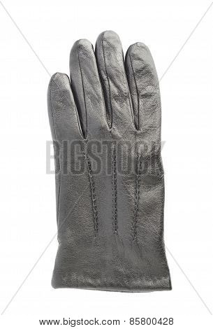 Crumpled leather glove isolated