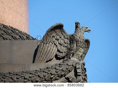 Double-headed eagle spread its wings