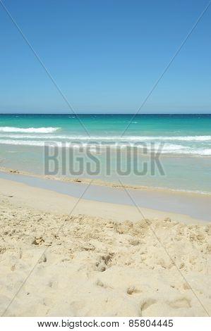 A Gorgeous Sunny Australian Beach In Summer.