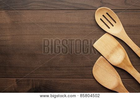 wooden spoons on the table