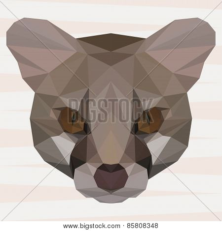 Abstract Polygonal Geometric Triangle Genet Background For Use In Design