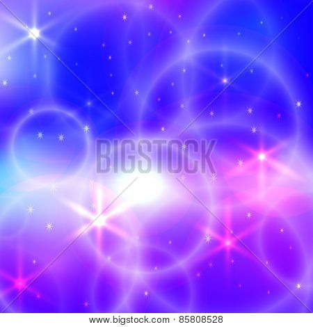 Vector abstract bright blurred  background with circles and sparks