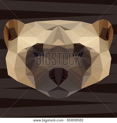 Abstract Polygonal Geometric Triangle Glutton Background For Use In Design