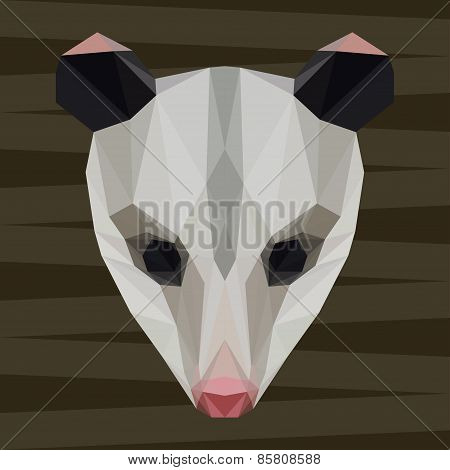 Abstract Polygonal Geometric Triangle Opossum Background For Use In Design