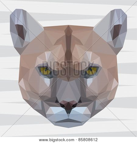 Abstract Polygonal Geometric Triangle Puma Background For Use In Design