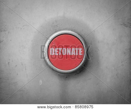 Retro Red Detonate Button