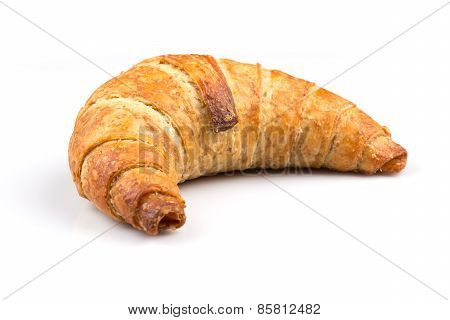 Croissant Over White Background