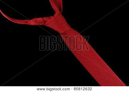Knitted red necktie