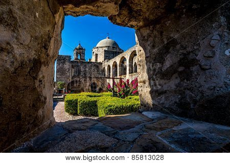 The Historic Old West Spanish Mission San Jose, Founded In 1720, San Antonio, Texas, USA