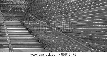 Monochrome stairway