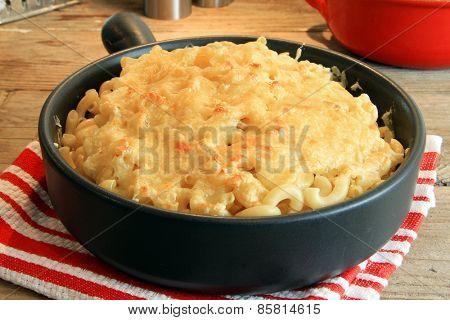 Home made macaroni and cheese.