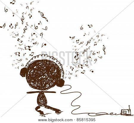 Music feeling Doodle