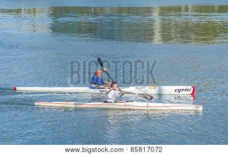 Solo Kayak Paddlers