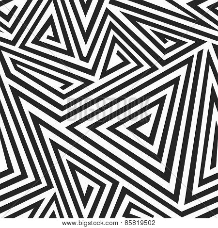 Monochrome Illusion Seamless Pattern