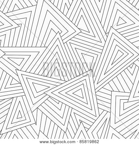 Monochrome Scattered Triangle Seamless Texture