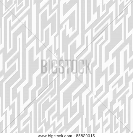 Monochrome Tech Geometric Seamless Pattern