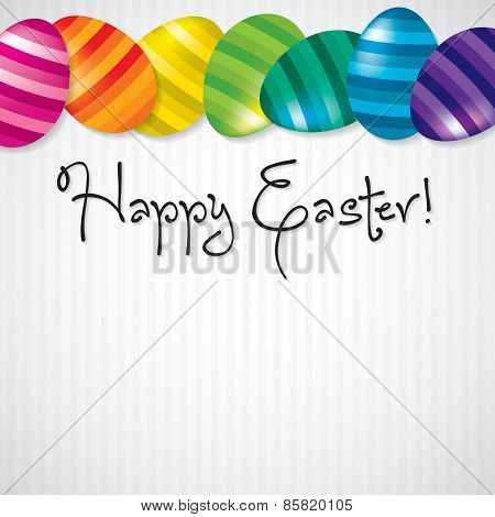 Bright Egg Happy Easter Card In Vector Format.