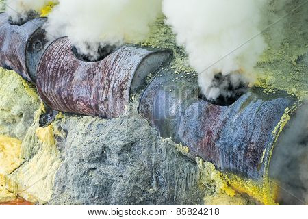 Steam Emerging From Vents