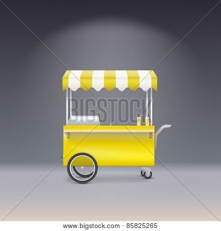 Yellow cart for sale lemonade.