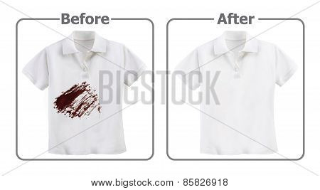 Stain Remover Experiment, Before and After