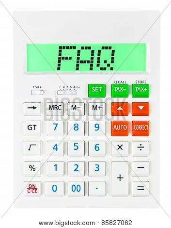 Calculator With Faq