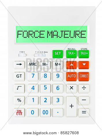 Calculator With Force Majeure
