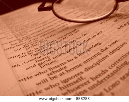 Bible and Glasses Closeup