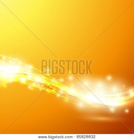 Bright Speed Swoosh Orange Background Wave Template