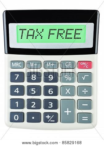 Calculator With Tax Free