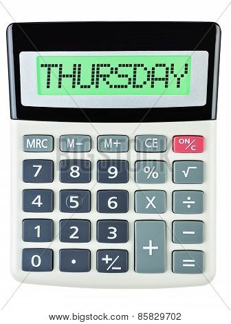Calculator With Thursday