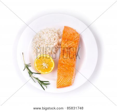Grilled salmon filler