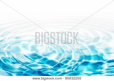 Water ripples - turquoise concentric circles
