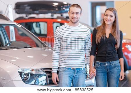 Customers in showroom