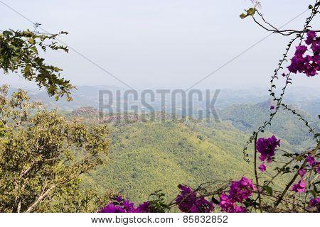 Mountain Scene In Rural Thailand