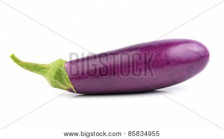 Egg Plant On White Background