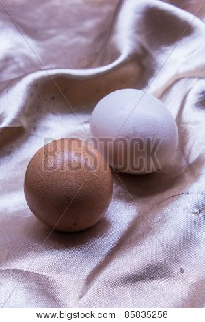 Fresh And Healthy Eggs, Still Life Easter