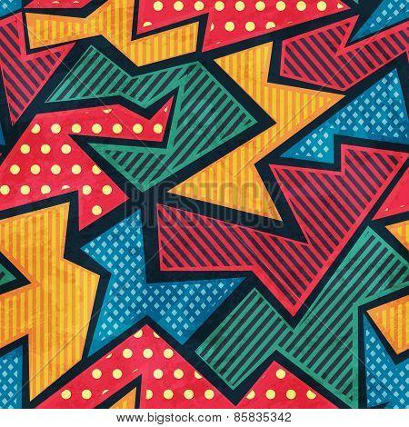 Retro Tissue Seamless Pattern With Grunge Effect