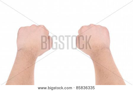 fists isolated