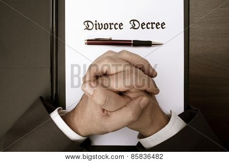 Divorce decree document