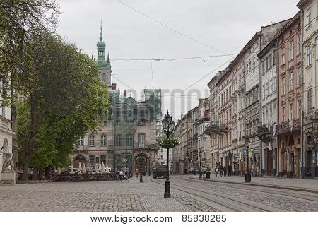Square In Centre Of Old Lviv