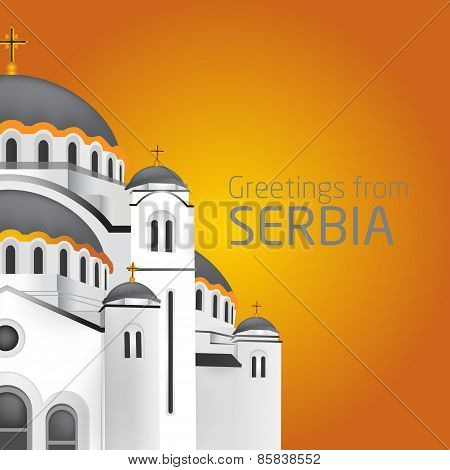 Greetings From Belgrade. Orthodox Church Saint Sveti Sava Belgrade