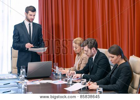Business meeting in the conference room
