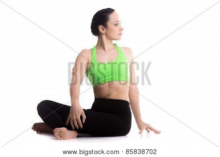 Revolved Easy Yoga Pose