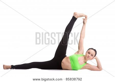 Side-reclining Leg Lift Yoga Pose