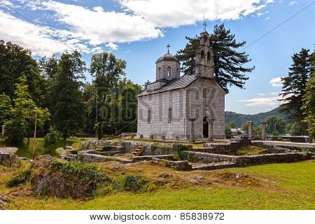 Old Church In Cetinje, Montenegro