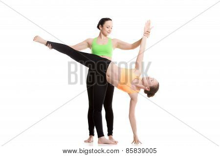 Yoga With Coach, Half Moon Pose